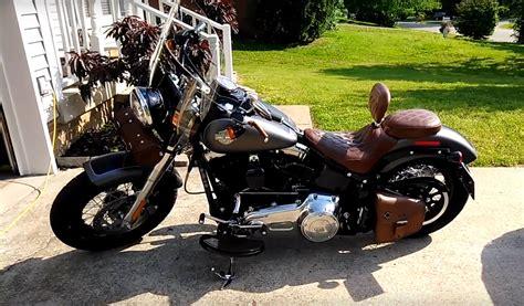motorcycle swing viking dellingr brown softail motorcycle swing arm bag