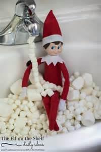 on the shelf ideas marshmallow bath