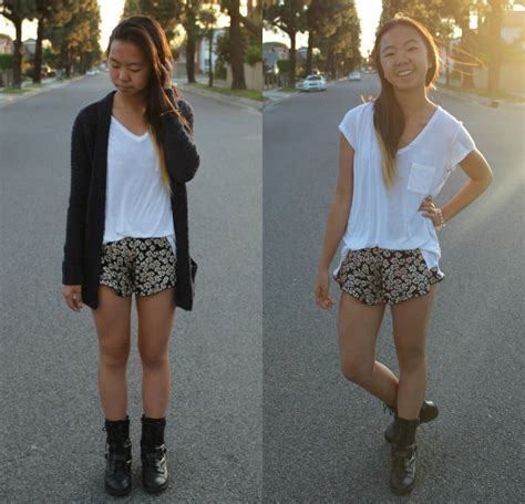 Brandy Melville Giveaway - shirley m ck loose white tee brandy melville usa daisy shorts chunky knit cardigan