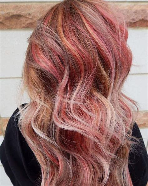 pictures of sapphire black hair with red highlights oltre 1000 idee su capelli biondi rosa su pinterest