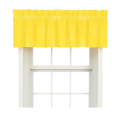 Solid Window Valances Solid Color Primary Valance Choose From Yellow Or