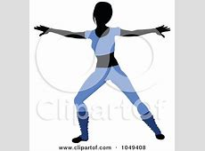 Fitness Woman Wearing Blue And Doing An Aerobics Pose - 2 ... Exercise Clip Art Free To Copy