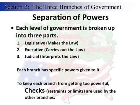 sections of government 3 branches of government ppt video online download