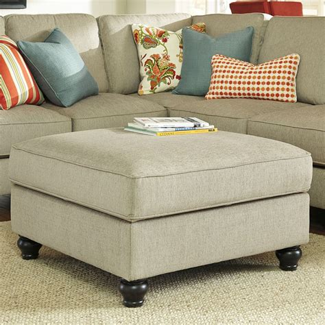 ottoman w storage kerridon putty ottoman w storage benchcraft furniture cart