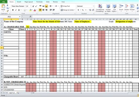 daily timesheet template excel 2010 excel time tracking timesheet template clicktime autos post