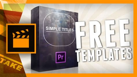 Simple Titles Is Available For Premiere Pro Cs6 Cinecom Net Adobe Premiere Title Templates