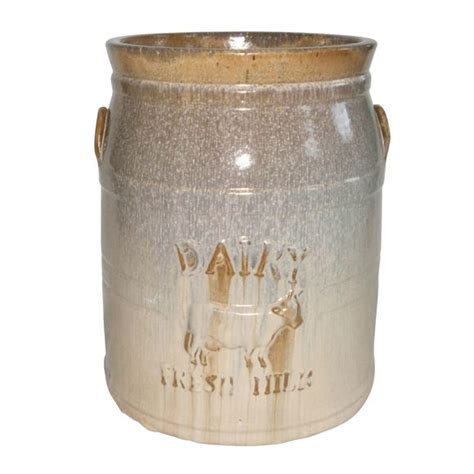 Milk Can Planter by Homestead Collection Milk Can Planter Pottery Decor Kaw Valley Greenhouses