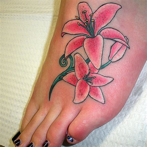 lily tattoo designs for feet more stunning designs for 2011 flower