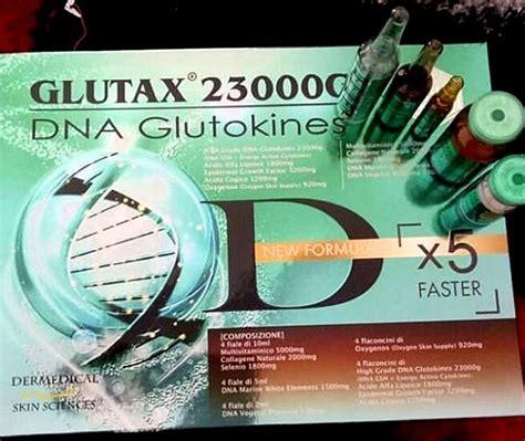 Glutax Whitening 23000gk dna glutokines glutathione skin whitening http