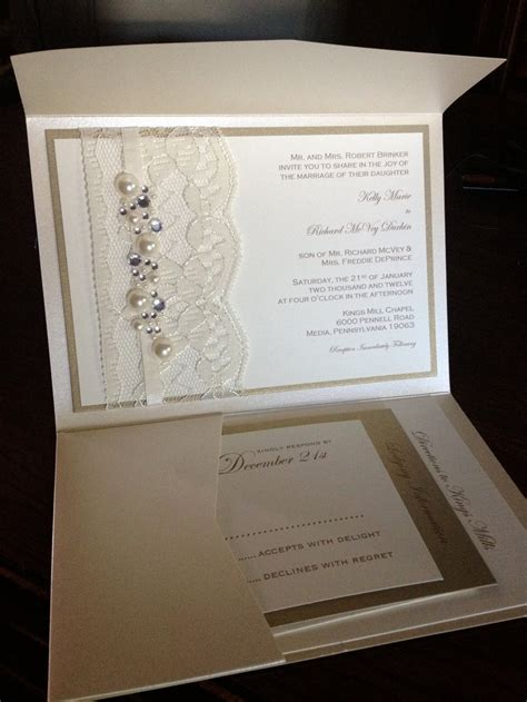 Sle Lace And Rhinestone Wedding Invite Invitation Rsvp Card Lodging Card Directions Card Wedding Invite Directions Template