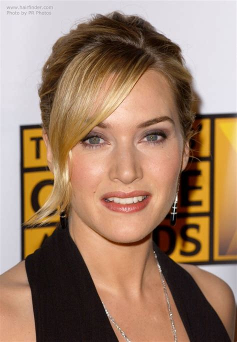 kate winslet wearing  hair    french twist