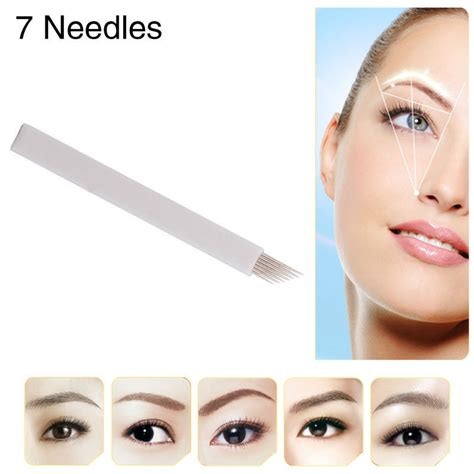 tattoo eyeliner boots free shipping 50pcs 7 prong flat permanent makeup manual