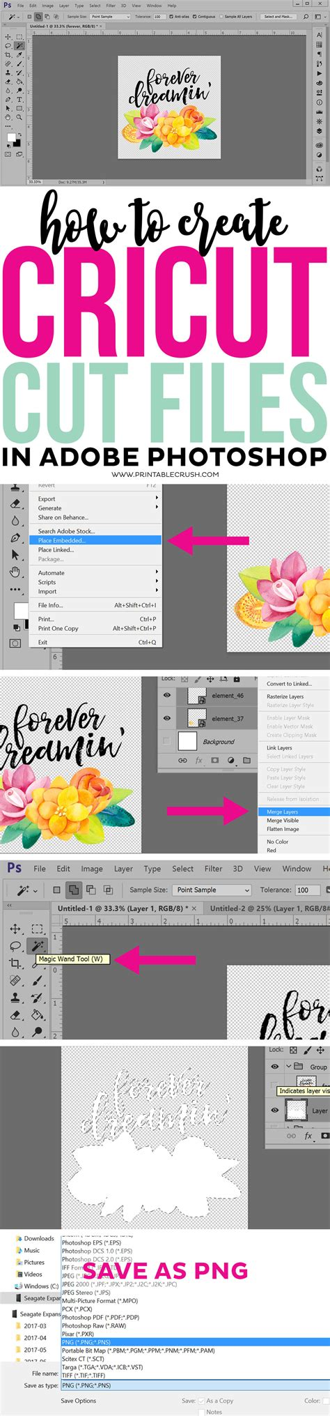 make your own file how to create cricut cut files in adobe photoshop