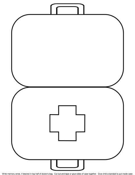 Doctor Bag Coloring Page 5 best images of doctor kit printables for preschool