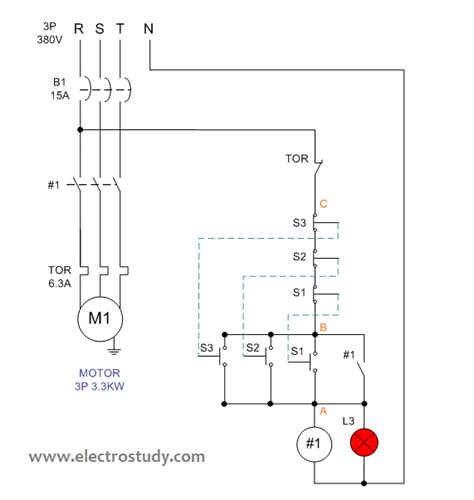 three phase motor wiring diagram electrostudy