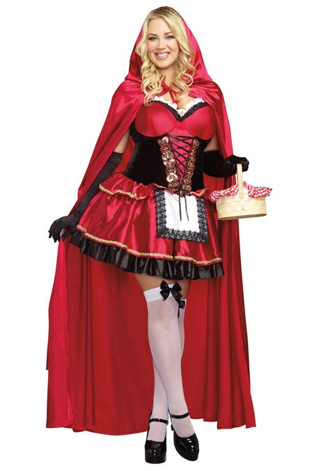 little red riding hood costumes adult kids red riding women s plus size little red costume