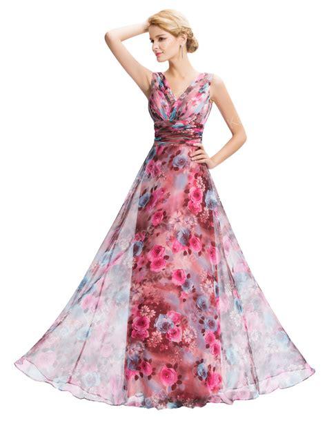 pattern dress chiffon grace karin new sleeveless v neck floral pattern chiffon