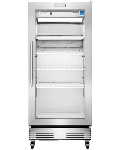 Glass Door Commercial Refrigerator Frigidaire Fcgm181rqb 18 4 Cu Ft Commercial Grade