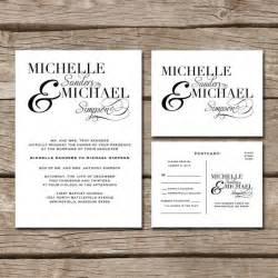 simple wedding invitation rsvp postcard wedding ideas fonts