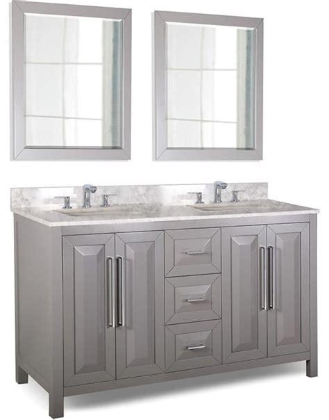 Bathroom Vanity Experts Hardware Resources Cade Contempo 60 Inch Transitional Bathroom Vanity Grey