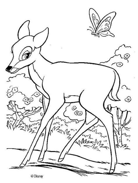 imagenes para colorear venado dibujo para colorear bambi en el bosque