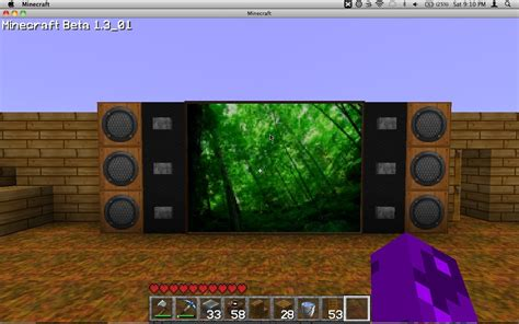how to build a tv how to make a tv on minecraft survival mode minecraft