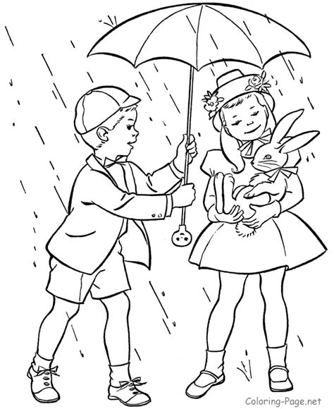 coloring pages with rain spring rain coloring pages az coloring pages
