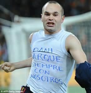Kaos T Shirt Andres Iniesta Iniesta world cup 2010 cesc fabregas savours moment that may