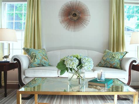 blue and green living rooms photos hgtv
