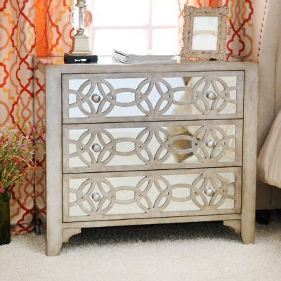 Mirrored Nightstand Sales by Product Details Libby Silver Mirrored 3 Drawer Chest