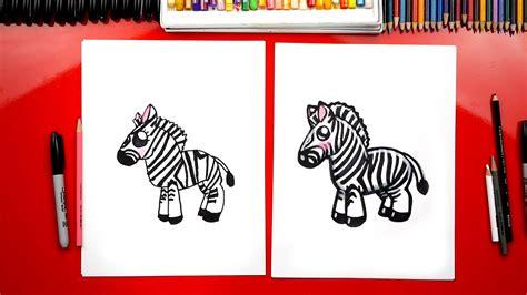 draw  cartoon zebra art  kids hub