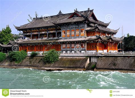 china tea house dujiangyan china historic tea house stock photography image 34312282