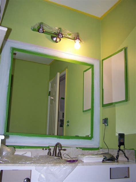bathroom mirror makeover hometalk old bathroom mirror makeover decorative paint