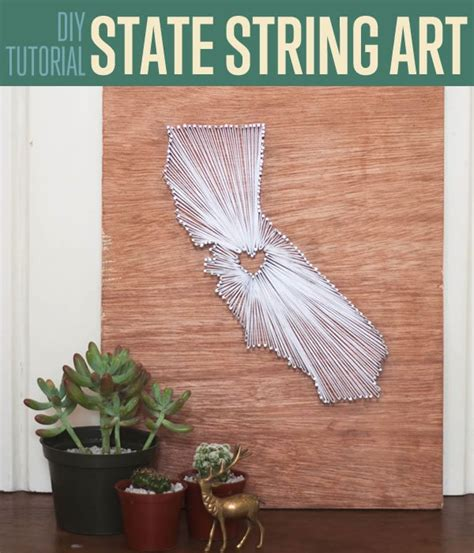 State String Tutorial - diy string tutorial state themed wall