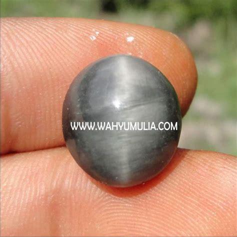 Batu Akik Hitam Disenter Hijau batu pandan cat eye kode 184 wahyu mulia