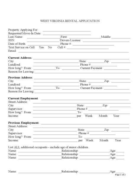 printable lease agreement wv west virginia rent and lease template free templates in