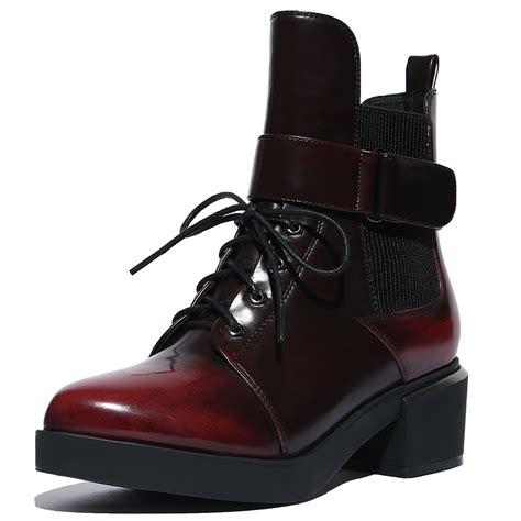 s ankle boots fashion genuine leather lace up martin