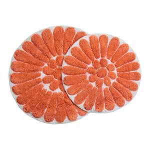 Coral Bathroom Rug Chesapeake 45953 Bursting Flower 2 White Coral Bath Rug Set Atg Stores