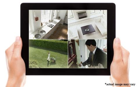 home security system with four surveillance cameras delivered