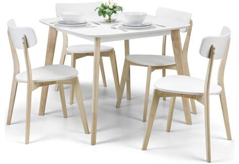 Retro Dining Table Sets Julian Bowen Casa Dining Set Coffee Table L Tables Limed Oak Finish White Lacquered