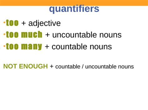 too much and not 0374535957 ppt quantifiers