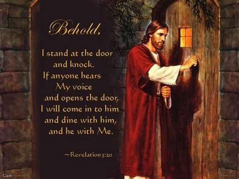 Stand At The Door And Knock by Behold I Stand At The Door And Knock Positive Words