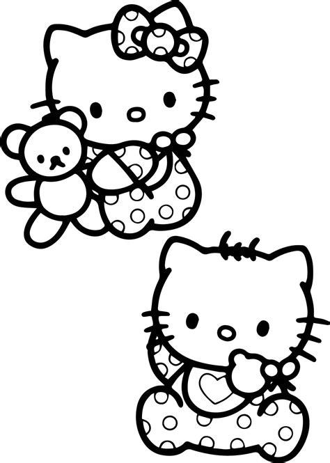 Hello Kitty Coloring Page Wecoloringpage Sheet Cartoons Cute