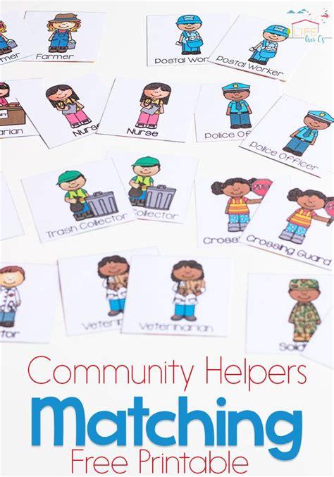 community helpers matching for preschoolers