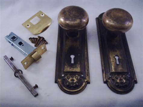 Antique Door Knob Sets by Antique Solid Brass Door Knob Set Conversion For Modern By Mickcut