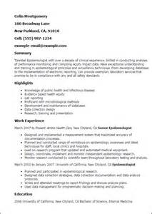 Border Patrol Officer Sle Resume by Professional Epidemiologist Templates To Showcase Your Talent Myperfectresume
