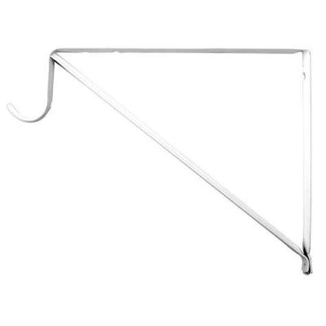 everbilt 10 in x 3 4 in white shelf and rod bracket hd