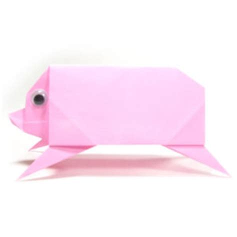 Simple Origami Pig - how to make a simple origami pig page 1