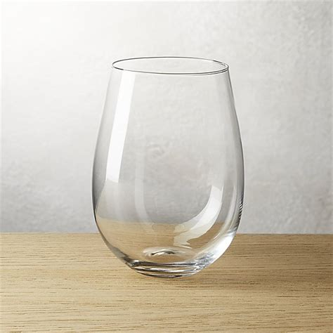stemless wine glasses true stemless wine glass cb2