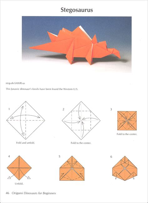 How To Make Origami Dinosaurs - origami dinosaurs for beginners 026101 details rainbow